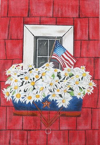 Patriotic Window Painted Canvas HSN Designs