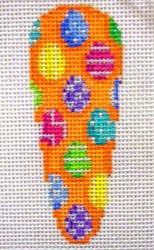 Patterned Egg Baby Carrot Painted Canvas Associated Talents