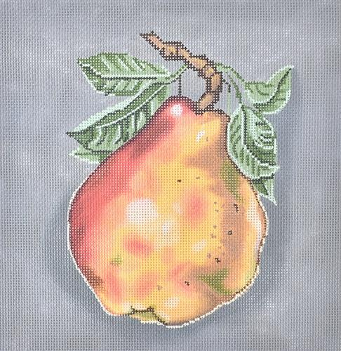 Pear Pillow Painted Canvas Gayla Elliott