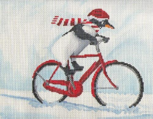 Penguin Out for a Ride Painted Canvas Scott Church Creative