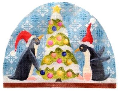 Penguin Snowdome Painted Canvas Kirk & Bradley