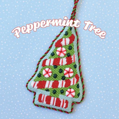 Peppermint Tree Kit & Online Class Online Course Needlepoint.Com