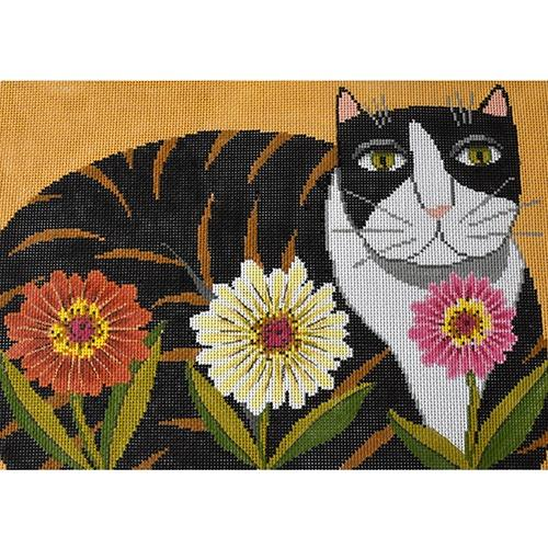 Petal Pusher - Cat Painted Canvas The Meredith Collection