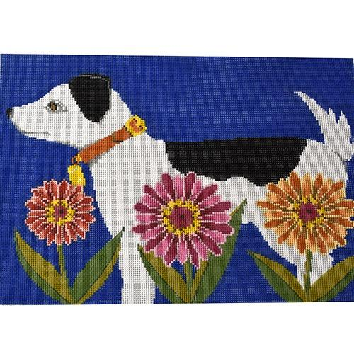 Petal Pusher - Dog Painted Canvas The Meredith Collection
