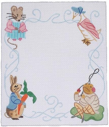 Peter Rabbit Birth Announcement Painted Canvas Kate Dickerson Needlepoint Collections
