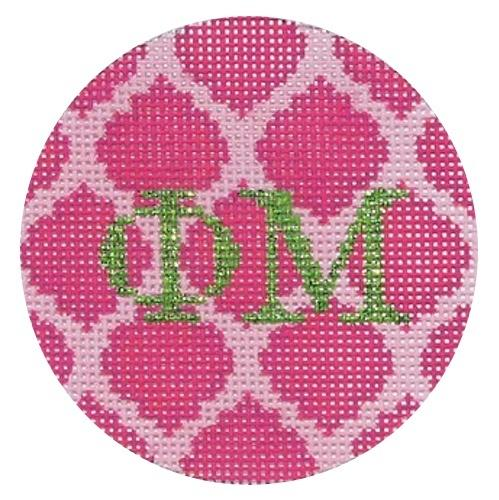 Phi Mu Painted Canvas Kate Dickerson Needlepoint Collections