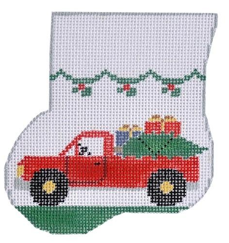 Pick Up Truck Mini-Sock Painted Canvas Kathy Schenkel Designs