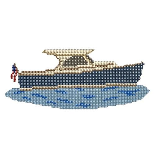 Picnic Boat Painted Canvas Morgan Julia Designs