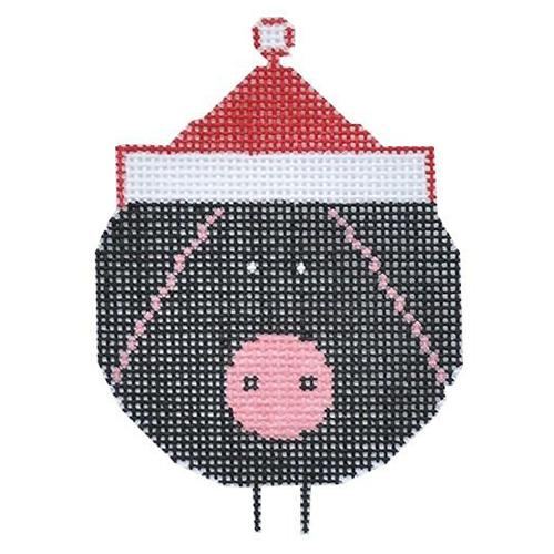 Pigs are Big Ornament Painted Canvas Charley Harper