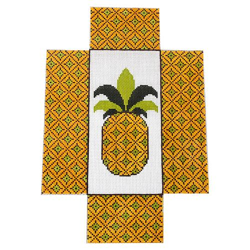 Pineapple Brick Cover Painted Canvas J. Child Designs