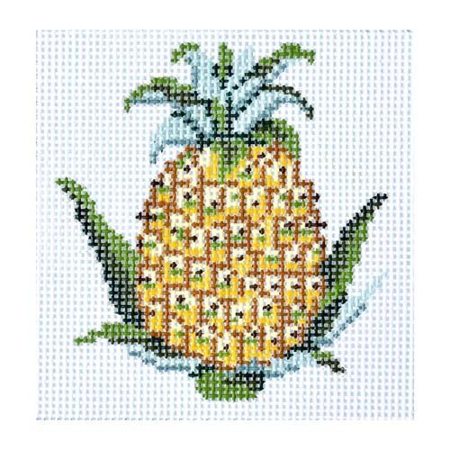 Pineapple Coaster Painted Canvas Gayla Elliott