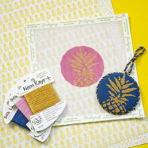 Pineapple Ornament Kit & Online Class Online Classes Two Sisters Needlepoint