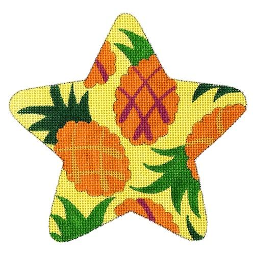 Pineapple Star Painted Canvas Raymond Crawford Designs