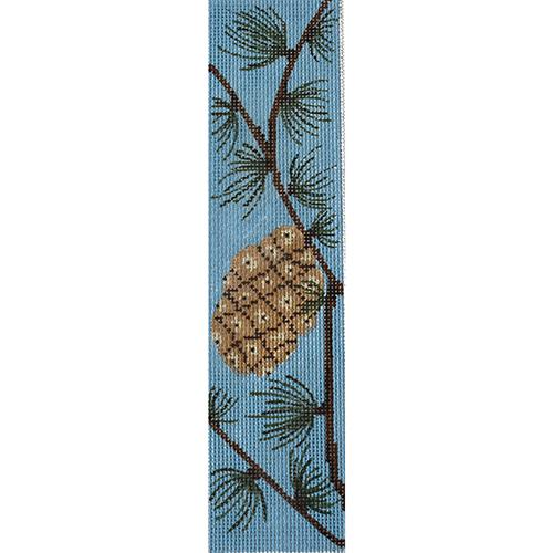 Pinecone Bookmark Painted Canvas J. Child Designs