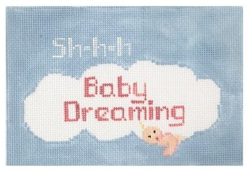 Pink Baby Dreaming Painted Canvas Kathy Schenkel Designs