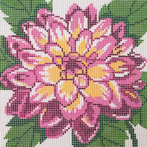 Pink Dahlia Painted Canvas Lee's Needle Art Inc.