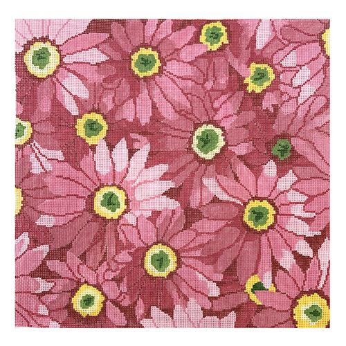 Pink Daisies Painted Canvas Jean Smith