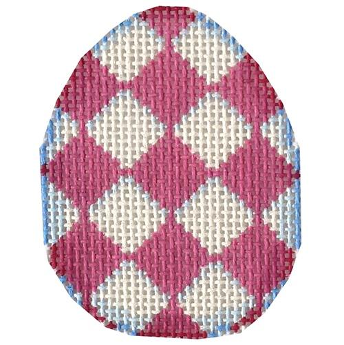 Pink Harlequin Mini Egg Painted Canvas Associated Talents