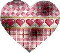 Pink Hearts / Plaid / Lattice Heart Painted Canvas Associated Talents