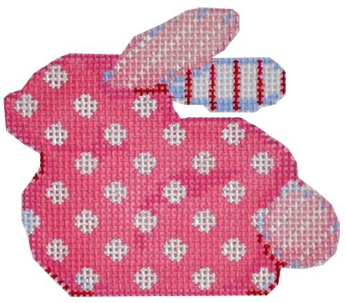 Pink Polka Dot Baby Bunny Painted Canvas Associated Talents