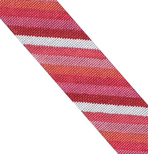 Pink Stripes Cuff Painted Canvas Danji Designs