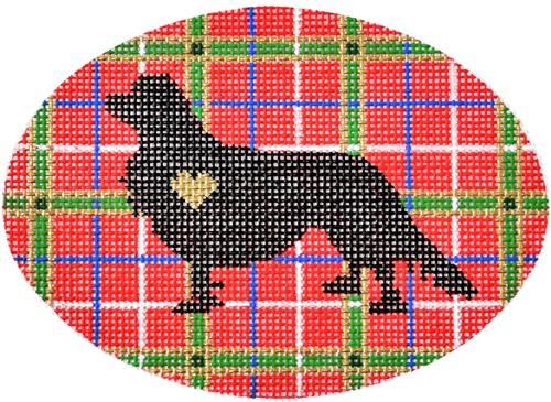 Plaid Silhouette Cavalier Painted Canvas Pepperberry Designs