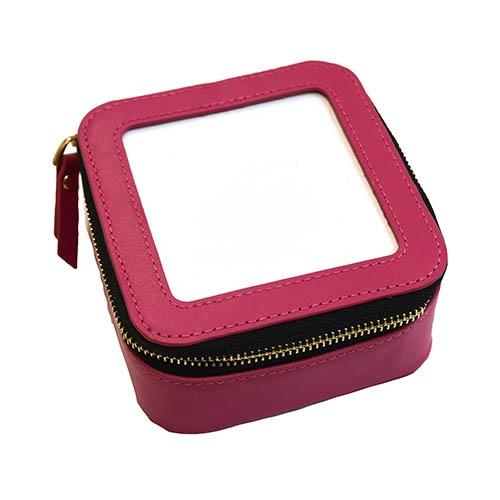 Planet Earth Leather Jewelry Case Pink Leather Goods Planet Earth Leather