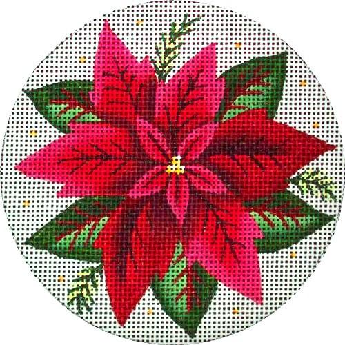 Poinsettia Painted Canvas Rebecca Wood Designs