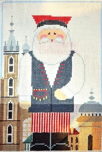 Polish Santa Painted Canvas Kathy Schenkel Designs