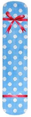 Polka Dot & Bow Eyeglasses Case Blue Painted Canvas Kirk & Bradley