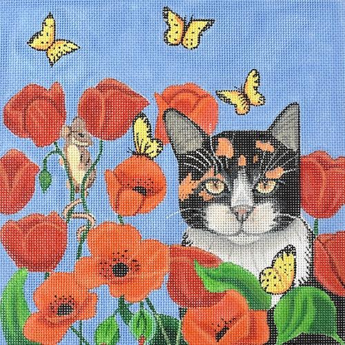 Poppy Cat Painted Canvas Nenah Stone Designs
