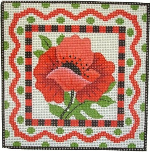 Poppy Painted Canvas Vallerie Needlepoint Gallery