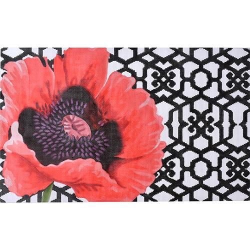Poppy Trellis on 18 Painted Canvas Kirk & Bradley