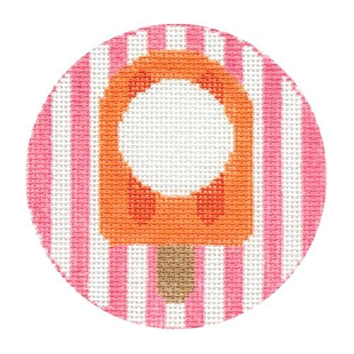 Popsicle Monogram Round Painted Canvas Rachel Donley