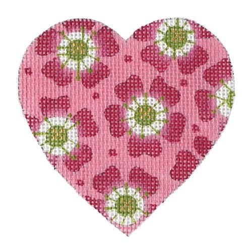 Posy Heart Painted Canvas Melissa Shirley Designs