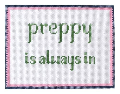 Preppy is Always In Painted Canvas Anne Fisher Needlepoint LLC