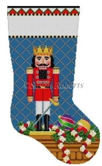 Prince Nutcracker Stocking Painted Canvas Susan Roberts Needlepoint Designs, Inc.