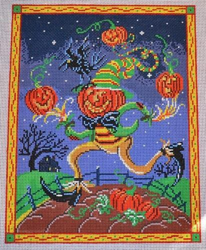 Pumpkin Man Painted Canvas Birds of a Feather