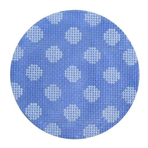 Purple Dots Round Painted Canvas Kate Dickerson Needlepoint Collections