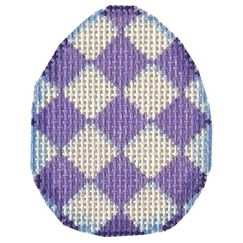 Purple Harlequin Mini Egg Painted Canvas Associated Talents