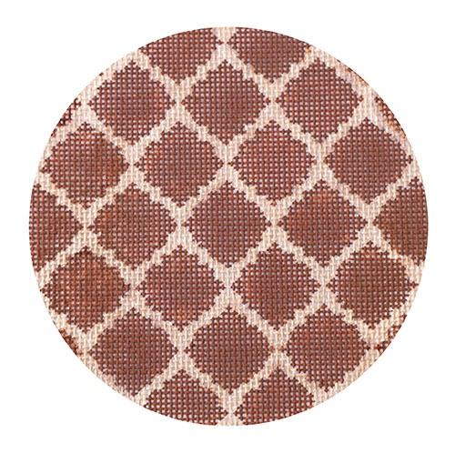 Quatrefoils - Brown on Tan Painted Canvas Kate Dickerson Needlepoint Collections