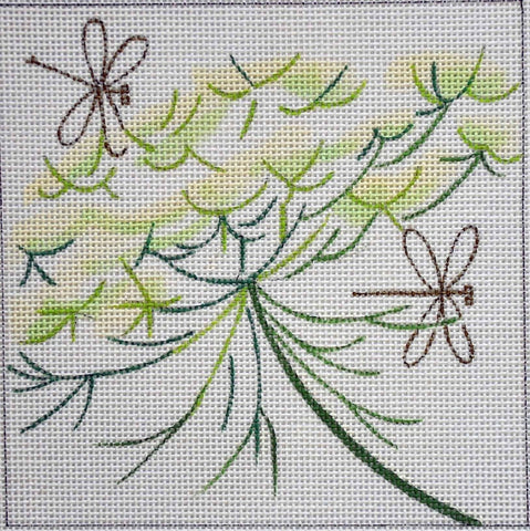Queen Anne's Lace Painted Canvas Julie Mar Needlepoint Designs