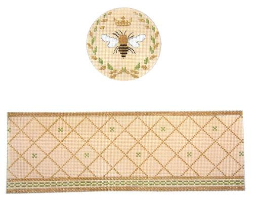 Queen Bee Beige Box Painted Canvas Funda Scully