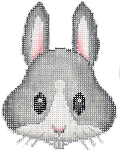 Rabbit Emoji Painted Canvas The Point of It All Designs