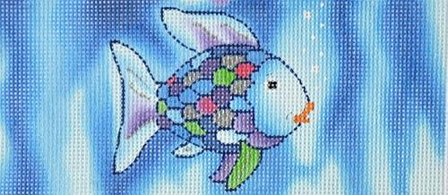 Rainbow Fish Painted Canvas Lee's Needle Art Inc.