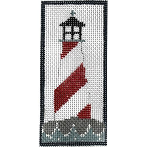 Red Lighthouse Painted Canvas Pippin