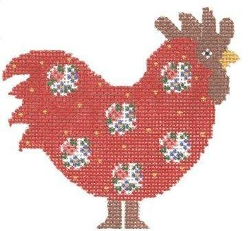 Red Rooster Painted Canvas Cooper Oaks Design
