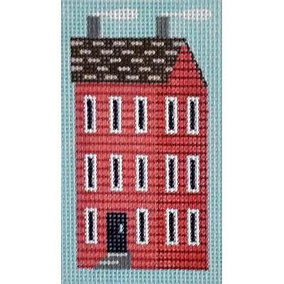 Red Shaker House Key Fob Painted Canvas Kirk & Bradley