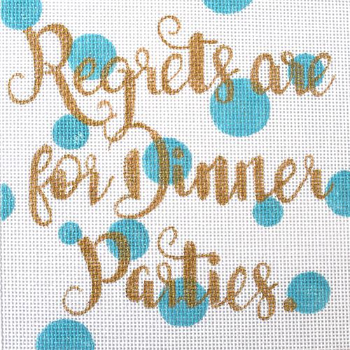 Regrets are for Dinner Parties Painted Canvas A Poore Girl Paints