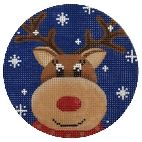 Reindeer Blue Snowflake Painted Canvas Pepperberry Designs